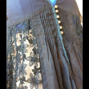Nordstrom Tops - Ezone Brassy Button Front Babydoll Lace Beach Vest